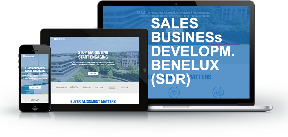 SALES BUSINESS DEVELOPMENT BENELUX (SDR)